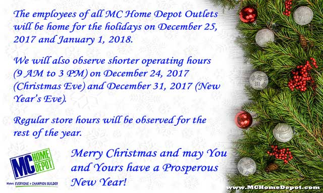 Mc Home Depot Holiday Schedule Mc Home Depot