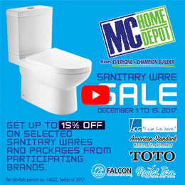 MC Home Depot Sanitary Wares Sale December 2017