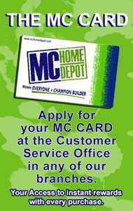 MC Home Depot Card