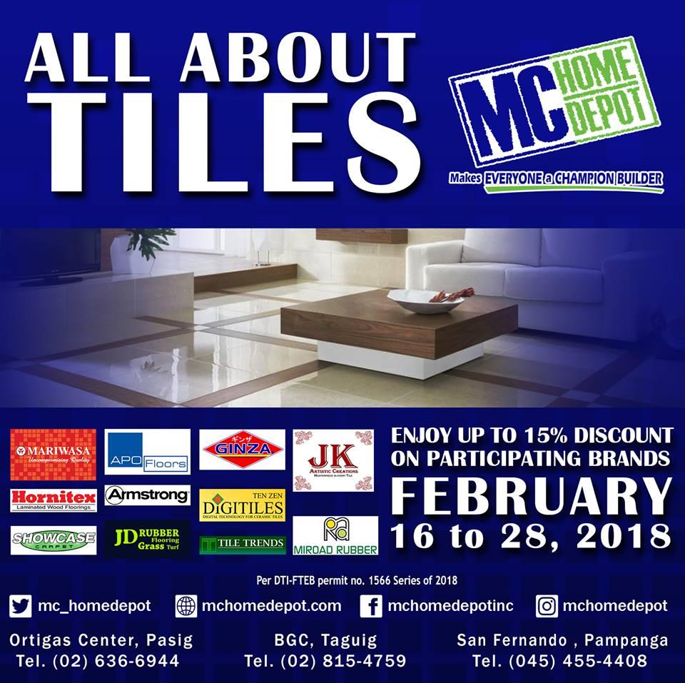 MC Home Depot Tile Sale