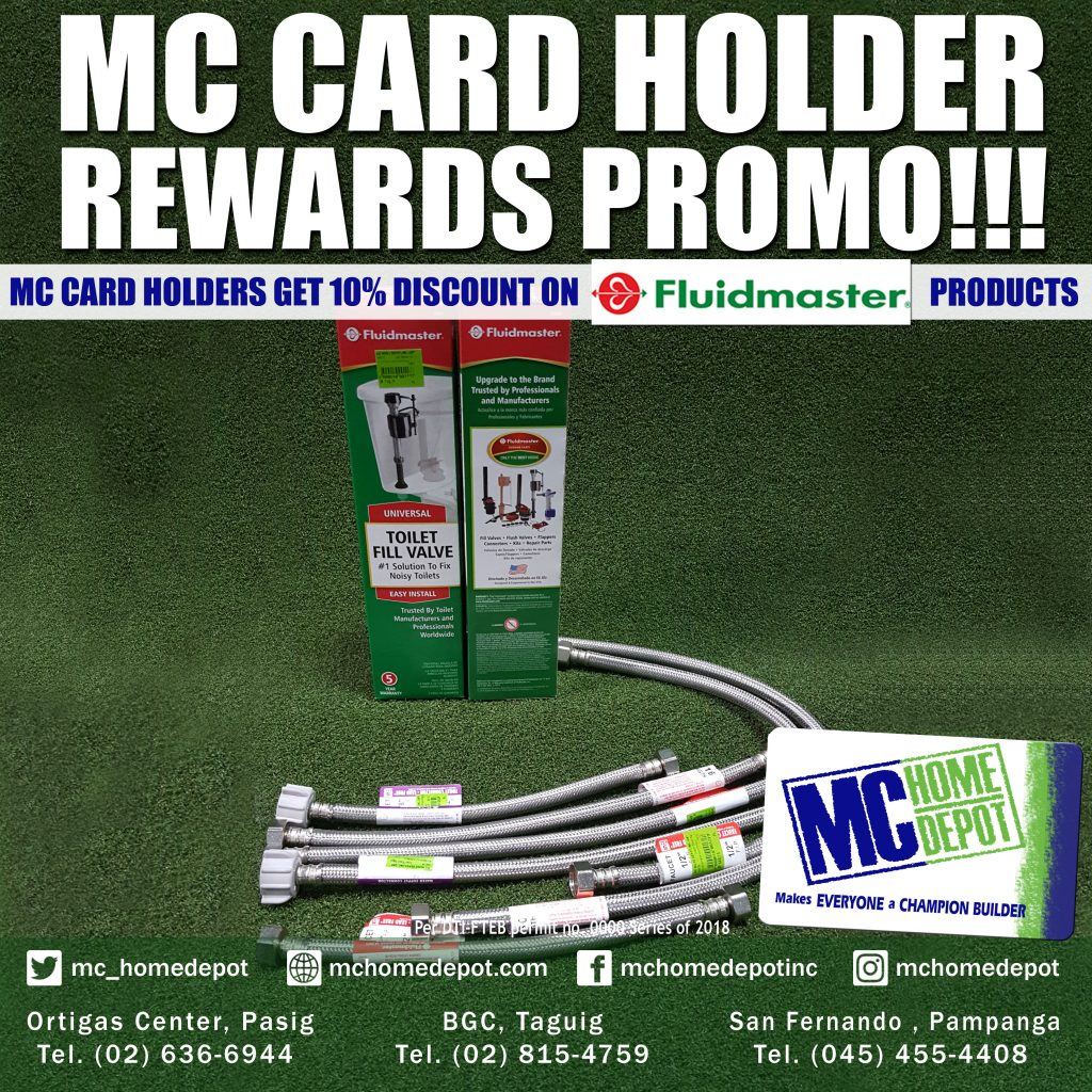 MC Card discount on Fluidmaster products