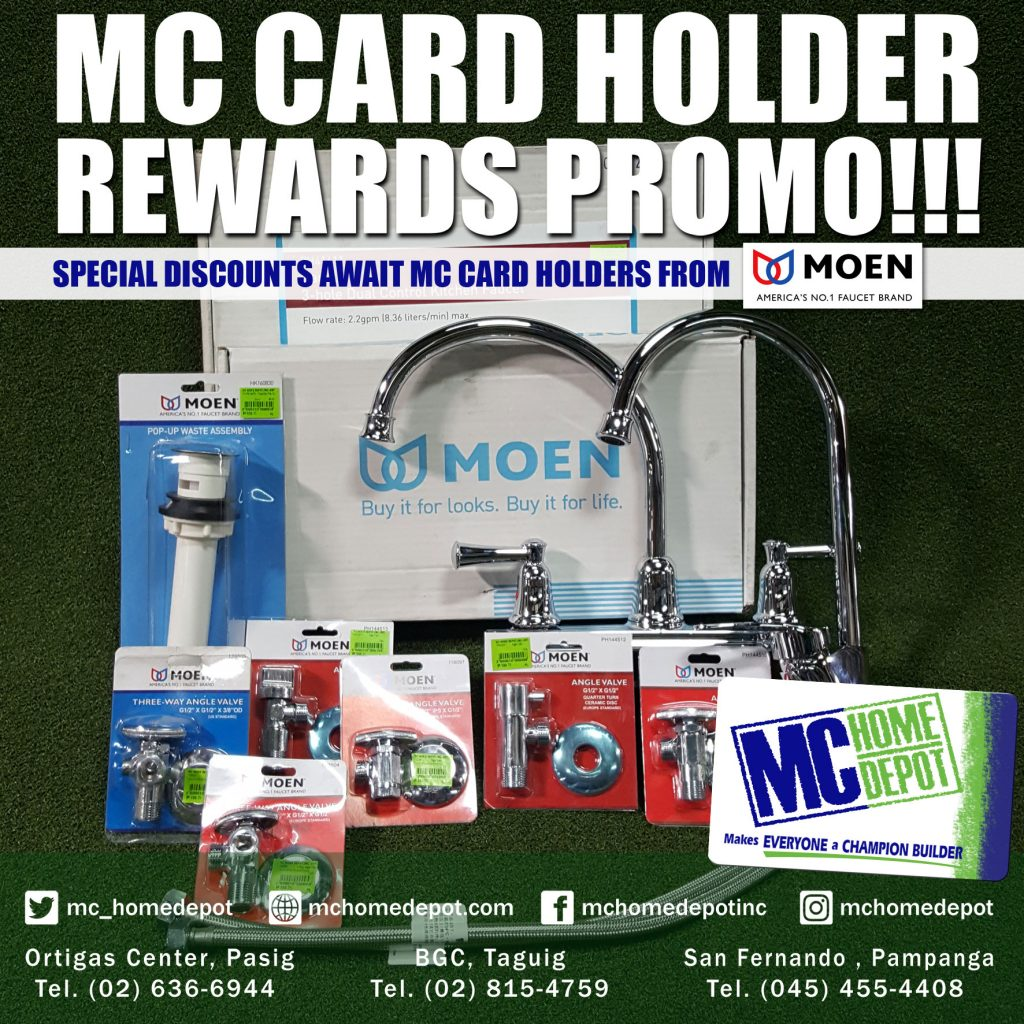 Moen MC Card Discount