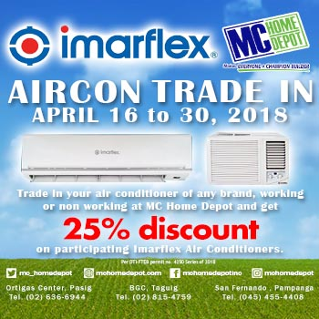 MC Home Depot & Imarflex Air-Con Trade-in
