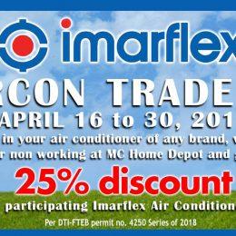 MC Home Depot & Imarflex Aircon Trade-in