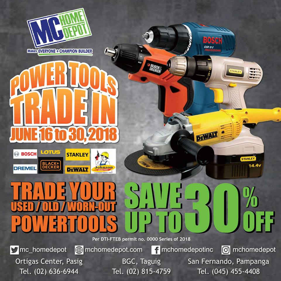 MC Home Depot Power Tools Trade-in