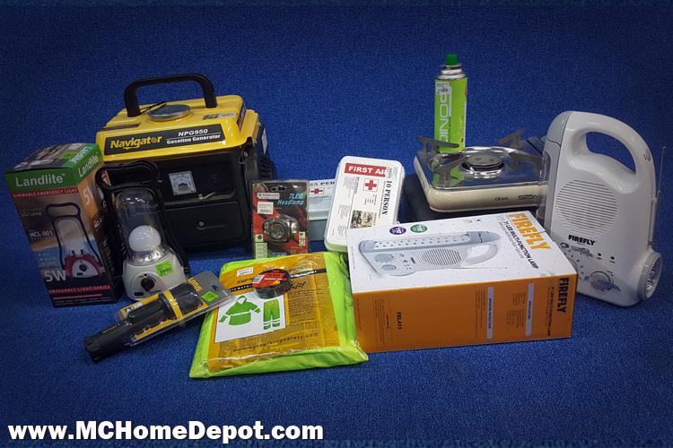 Rainy Day Survival kit - MC Home Depot