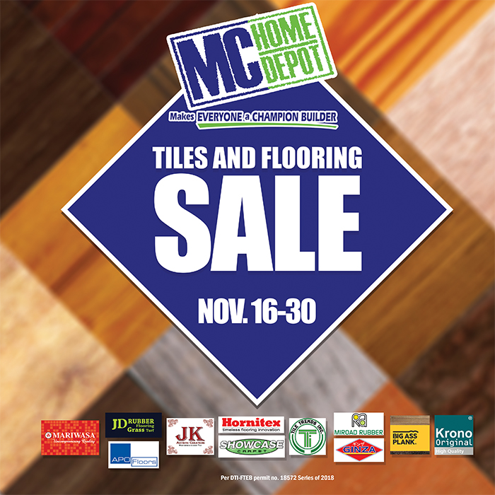 MC Home Depot Tile and Flooring Sale