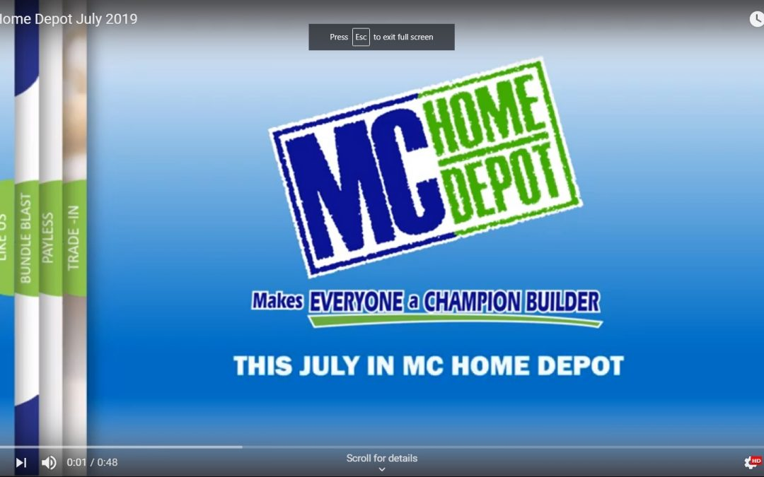 MC Home Depot June Specials