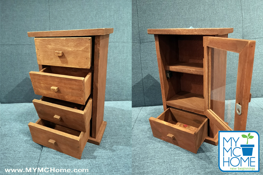 MY MC Home Mini-Wooden Aparadors Storage Cabinets