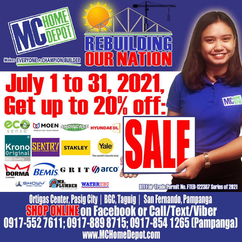 MC Home Depot Rebuilding our Nation Sale