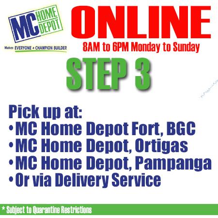 MC Home Depot Sale: Rebuilding our Nation – September