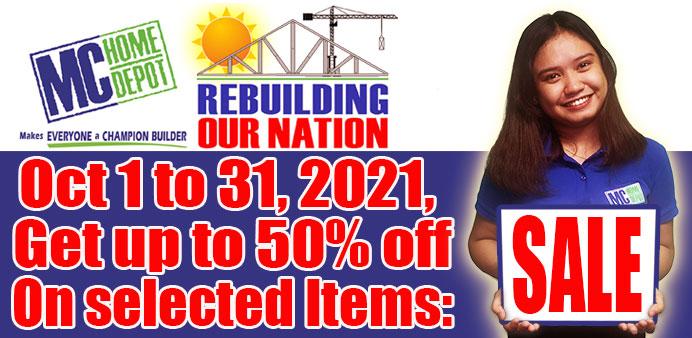 MC Home Rebuilding Our Nation Sale